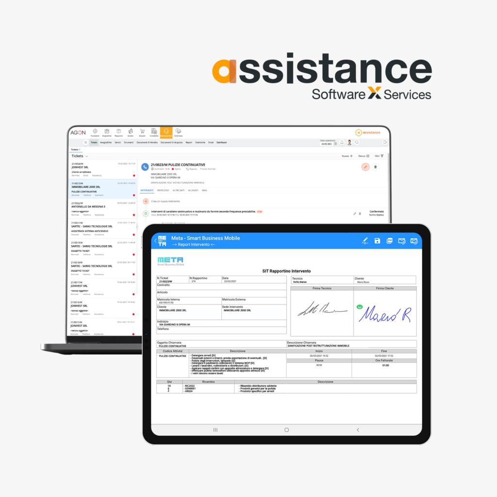 assistance software web e mobile